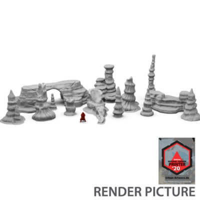 Large Rock Scatter Terrain Set