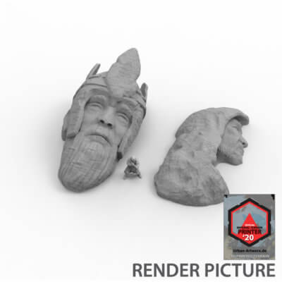 Ancient Ruins Heads