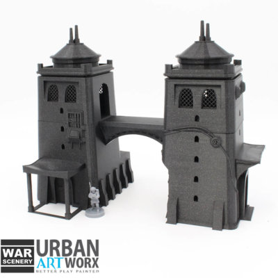 Desert Twin Tower 1 War Scenery