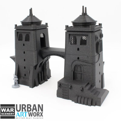 Desert Twin Tower 2 War Scenery